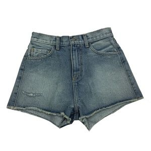 New Sample Carmar High Waisted Denim Shorts Sz 25